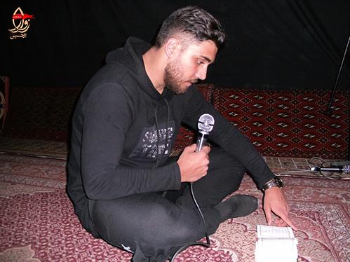 قرائت زیارت عاشورا توسط کربلائی مجتبی حق منش درحسینیه شهیددولت آبادی