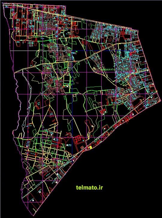 دانلود رایگان نقشه های اتوکد utm و کاداستر تهران کلیه منظقه ها DWG تلماتو autocad نقشه های هوایی تهران قابل ویرایش