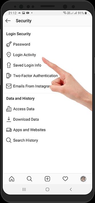 آموزش بررسی لیست دستگاه های متصل به اینستاگرام – دستگاه های فعال