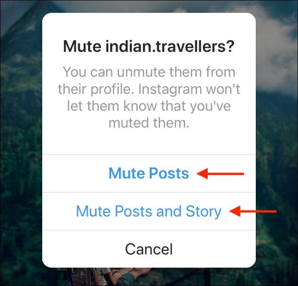 آموزش تصویری کامل بی صدا کردن یک شخص (Mute) در اینستاگرام