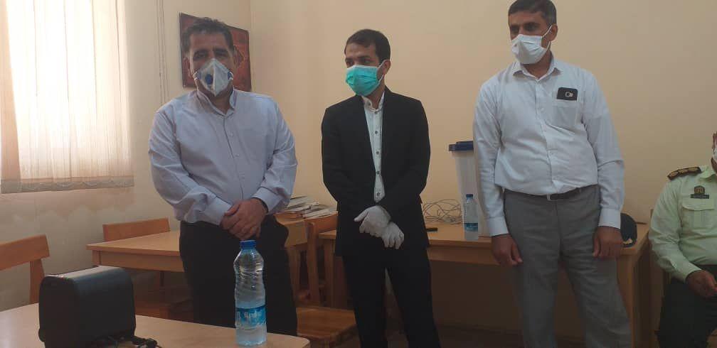 بازدید فرماندار قلعه گنج  از روند برگزاری انتخابات  اصناف شهرستان قلعه گنج