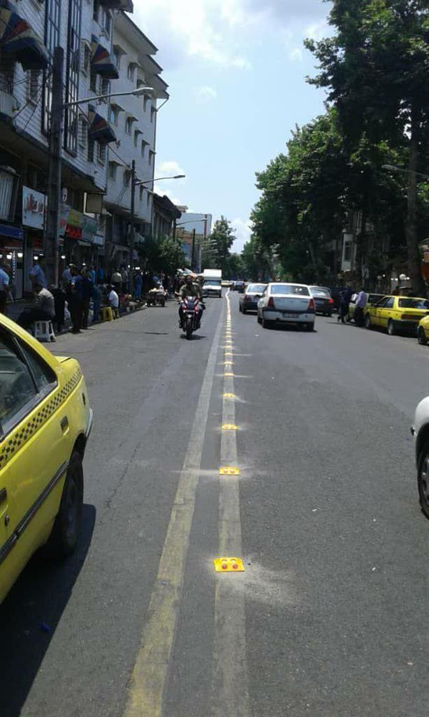 تدابیر ویژه برای ایمنی ترافیک در خیابان سردار جنگل رشت