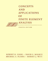 حل المسائل کتاب تحلیل اجزای محدود رابرت کوک ویرایش چهارم